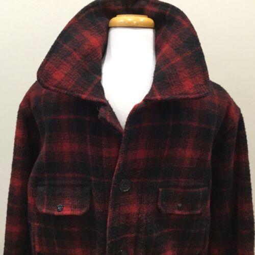 Johnson Woolen Mills RED BLACK 100% WOOL Hunting C