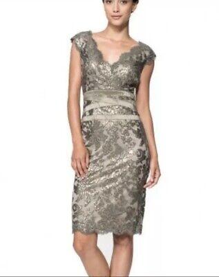 e2ea6561 Tadashi Shoji Embroidered Lace Sheath Dress Sz 6 for sale online   eBay