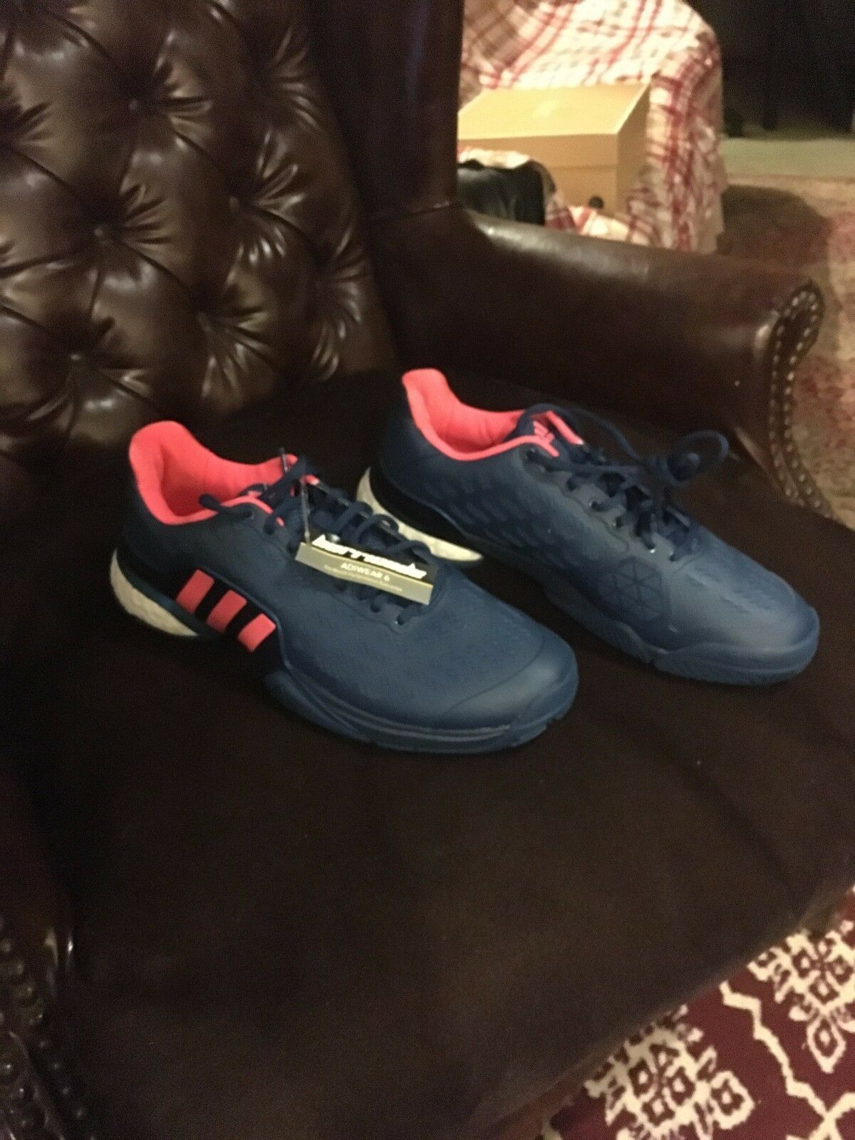 Men's Adidas    Boost  bluee Sneakers SIZE 9.5- Never worn 5dc3ca