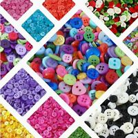 Mixed DIY Buttons Colors Round Shapes Sizes Art Craft Sewing Card Scrapbook Make