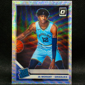 2019-20-Ja-Morant-Optic-Donruss-Rated-Rookie-168-SILVER-WAVE