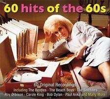 60 HITS OF THE 60s - 60 ORIGINAL RECORDINGS (NEW SEALED 3CD ) Beatles-Beach Boys
