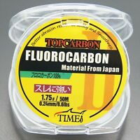 Fluorocarbon Fishing Line 8.6lb/50m Color Clear Material From Japan
