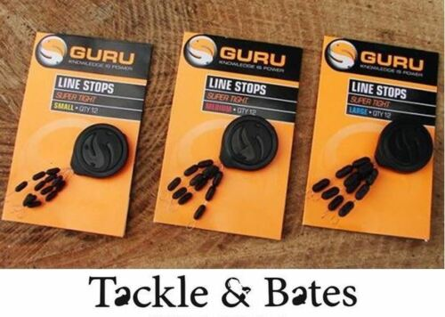 Guru Tight Line Stops Small Medium /& Large Match Coarse Float Feeder Fishing