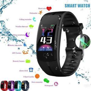 92f9229e6f Das Bild wird geladen Fitness-Armband-mit-Pulsmesser-Wasserdicht-Fitness- Tracker-Smartwatch-