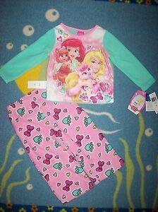 Palace-Pets-Pajamas-Sleepwear-2pc-Set-Size-2T-3T-4Toddler-Disney-Princess-NWT