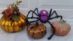 Halloween-Pumpkins-Jack-O-039-Lantern-Votives-JUNK-DRAWER-COLLECTION-JOL