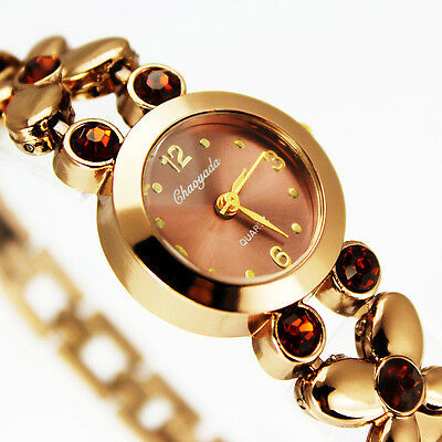 Women Lady Bronze Stainless Watches Butterfly Bracelet Waterproof Wrist Watches