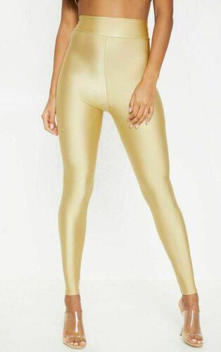 Débardeur femme American Taille Haute Disco Brillant Aspect Mouillé Leggings Danse Pantalon