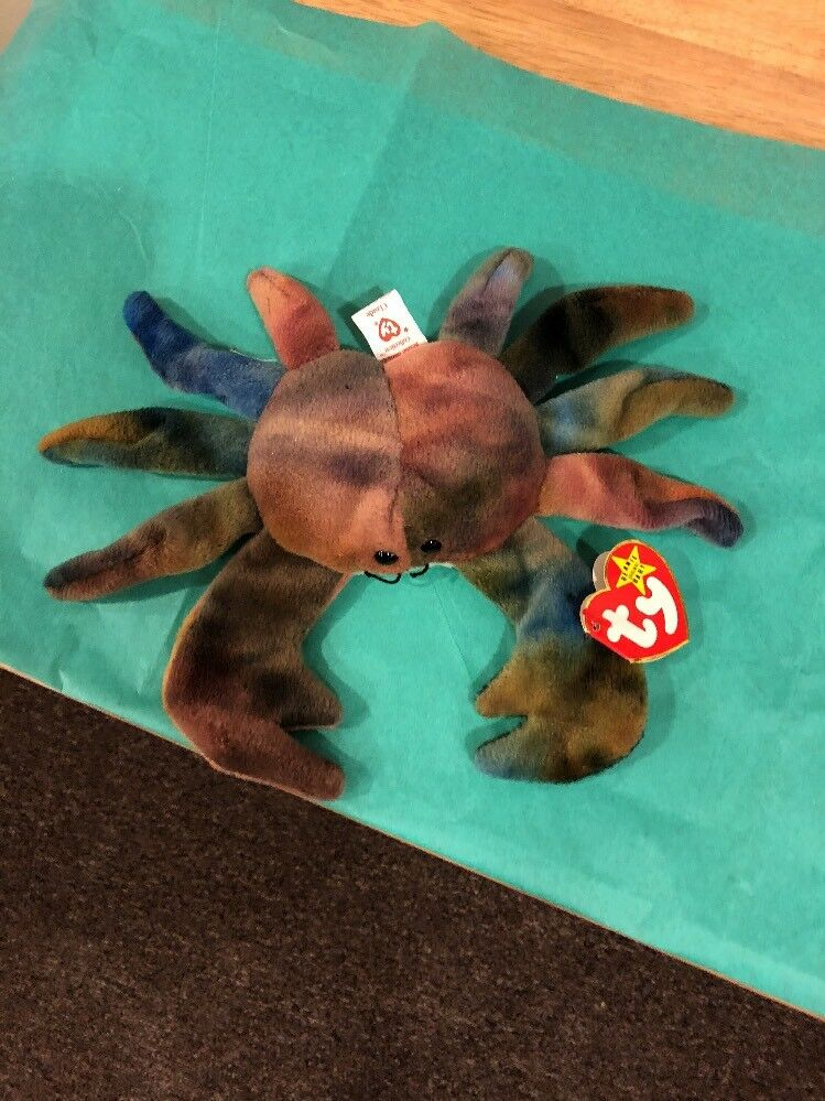 TY Beanie Babies - Claude the Crab - Rare Version w  Errors mint condition