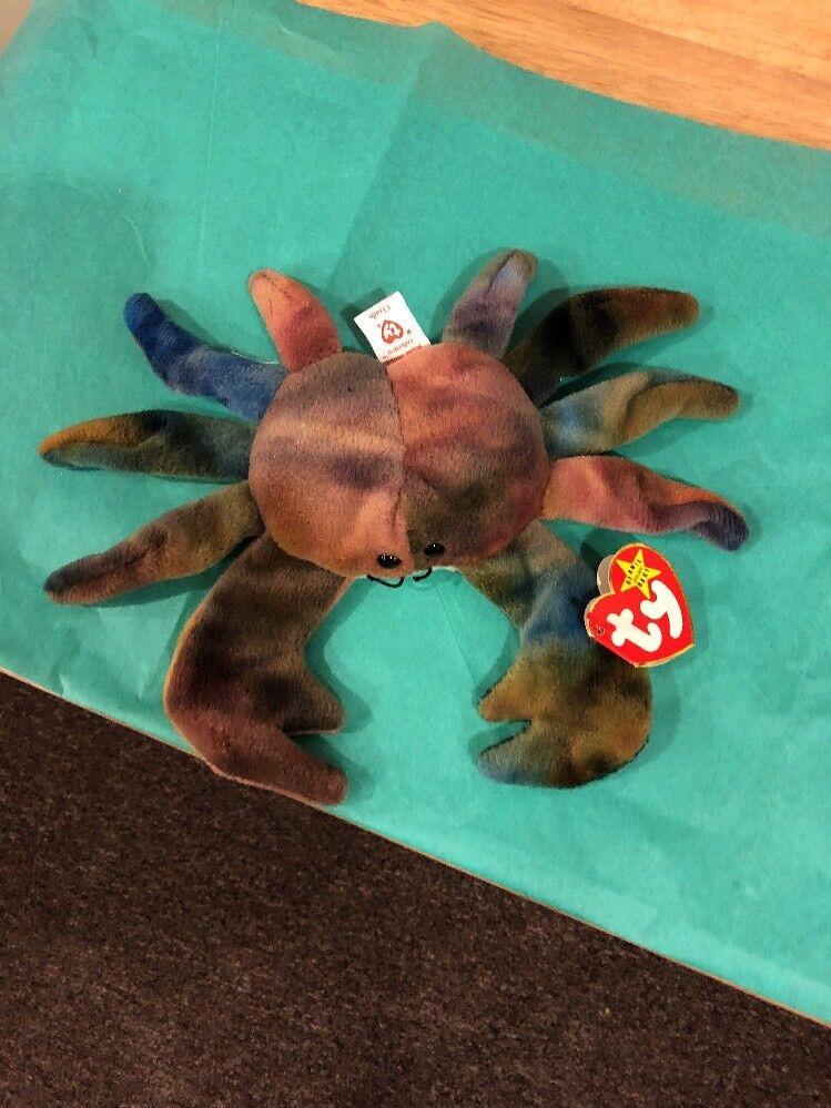 Ty beanie babies - claude crab - version w   fehler zustand   4083