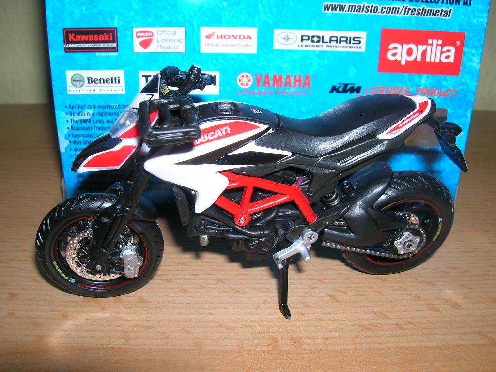 Maisto Ducati Hypermotard SP Red White Red White, 1 18 motorcycle moto motorbike