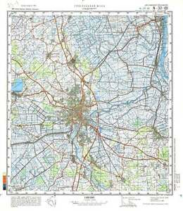 Russian Soviet Military Topographic Maps OLDENBURG Germany - Oldenburg map