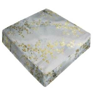GP-616-BLOSSOM-BLUE-Best-Brocade-Silk-Bench-Box-Seat-Cushion-Cover-Small-Large