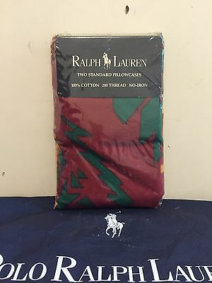 Rare 1992 Ralph Lauren Copper Mountain Pillowcases ~ New in Package ~ Vintage ~