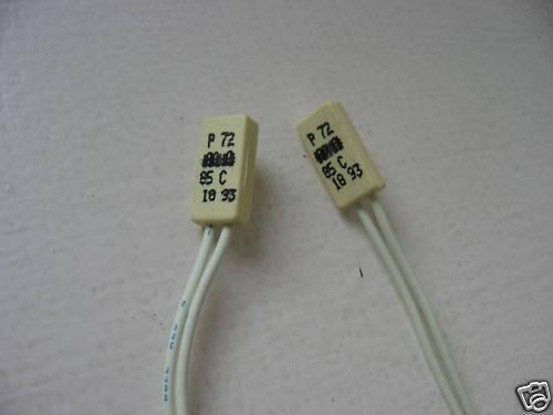 Lot de 5 Thermostats 85°c  avec fils Lg:20Cm