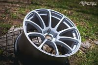18x9.5 +35 MK9 Varrstoen 5x114.3 Silver Wheel Fit 370Z G37 G35 Prelude Wrx Sti