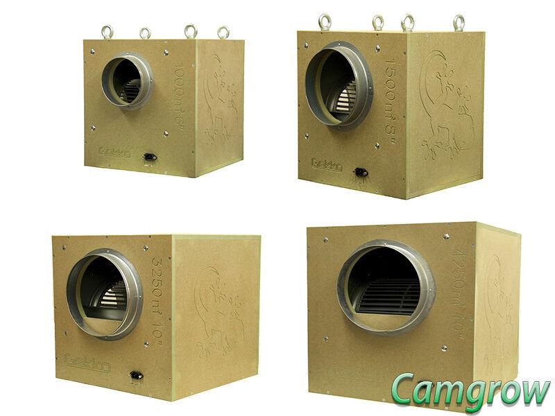 Gekko-Acustica BOX FAN 6  8  10  - Silent Ventola acustica estrazione Idroponica
