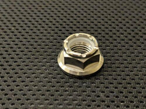 Titanium Nuts Ti Bride écrous nyloc Standard percé M5 M6 M8 M10 M12