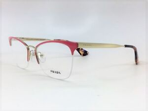 cecbfeae5a4 PRADA VPR 65Q PDN-101 Pink   Havana Demo Lens 53mm Eyeglasses