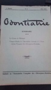 Revista Mensual Odontiatrie N º 3 1 Epoca Annee 1924 ABE