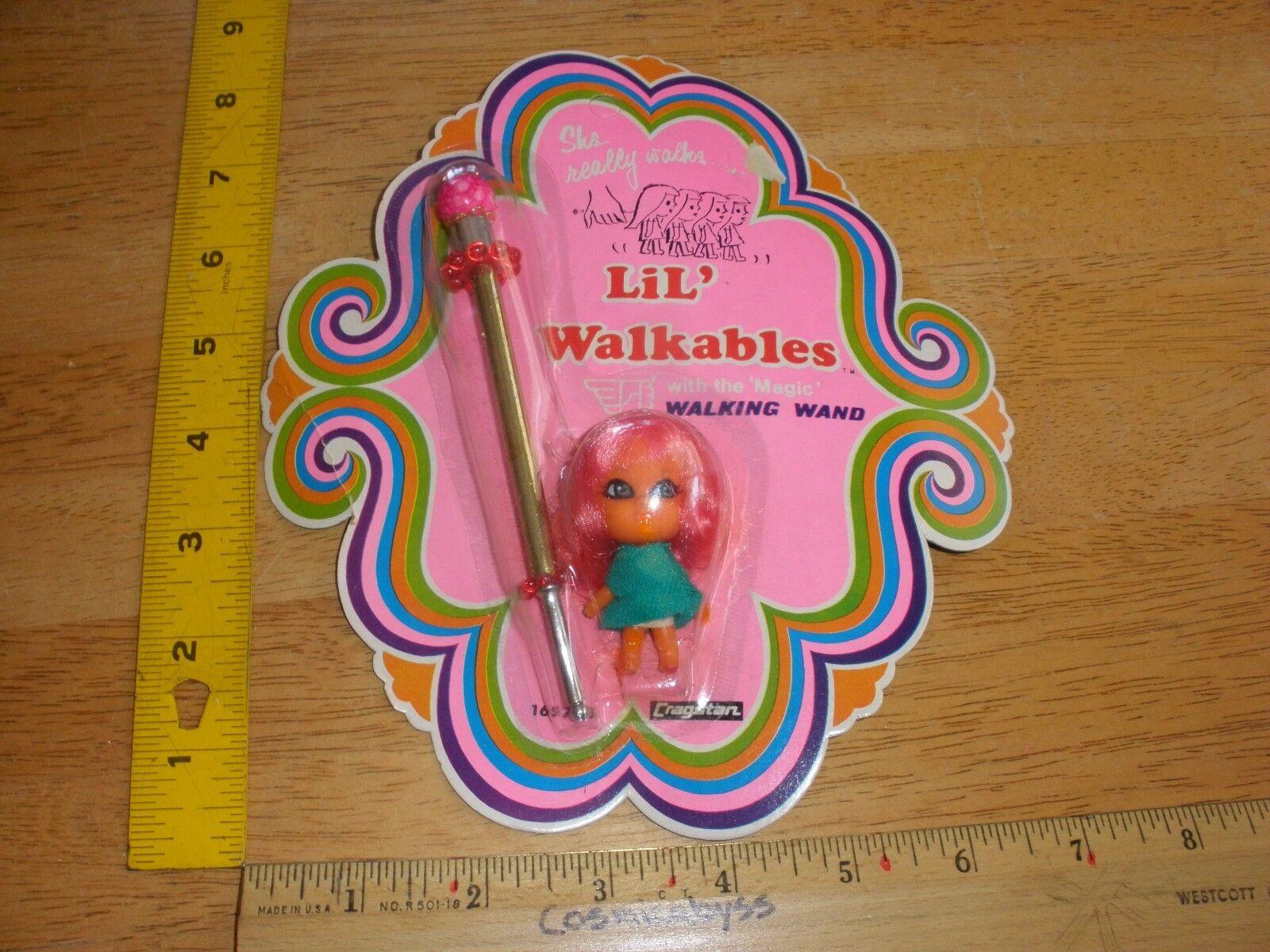 Lil' Walkables Cragstan Little Kiddle 1968 toy MOC VINTAGE unpunched RARE