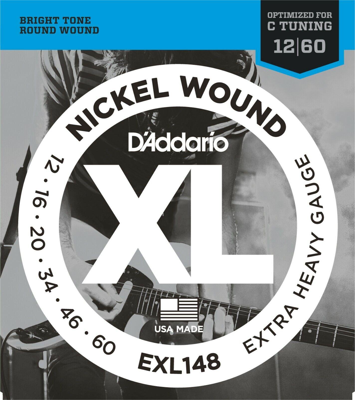 10 sets D'Addario EXL148 Electric Guitar Strings 12-60 Heavy