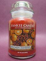 Yankee Candle -- MANDARIN CRANBERRY -- 22oz LARGE Jar Fruit Orange Cranberries
