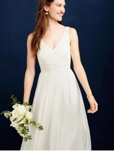 2031724f554df Details about J. Crew Size 0 Silk Chiffon Heidi Wedding Dress Gown with  tags Free Shipping