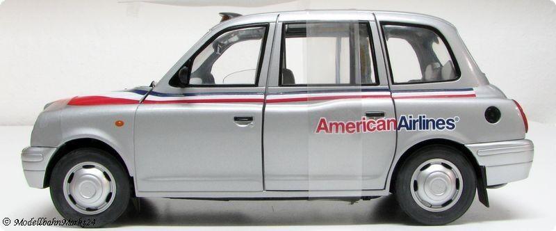 SUN STAR tx1 London Taxi Cab 1998  American American American Airlines  Scale 1 18 e199bf