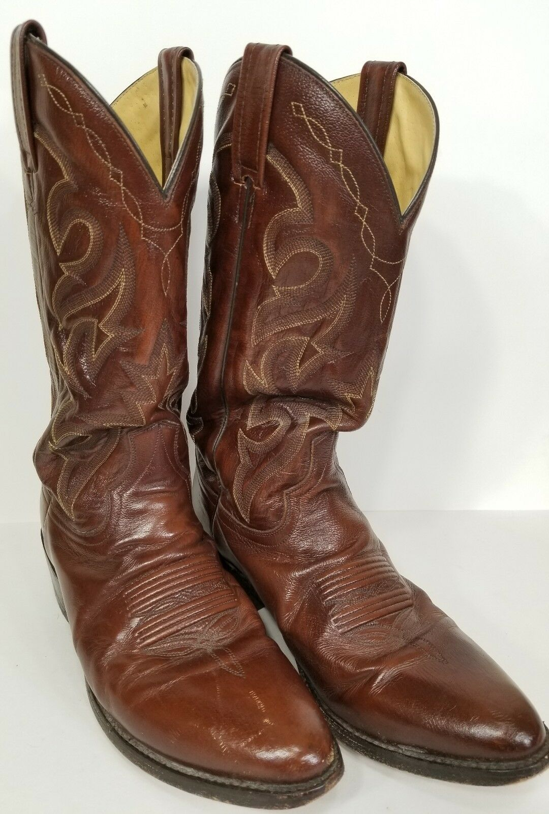 Dan Post Brown Leather Western Cowboy Boots DP2111 Mens Size 9.5