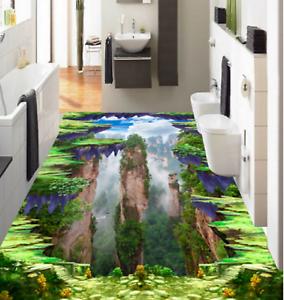 Nubes de montaña 53 3D Piso impresión de parojo de papel pintado mural 5D AJ Wallpaper Reino Unido Limón