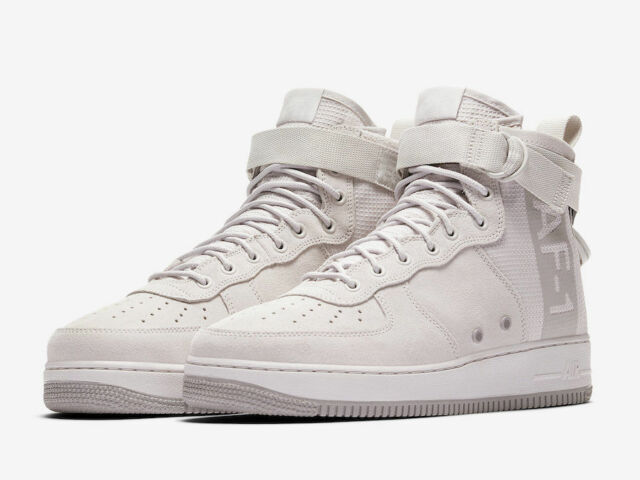 separation shoes f099f aeec3 Nike Sz 10 SF Air Force 1 Mid Suede Grey Atmosphere Special Forces Aj9502  001