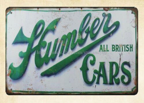Humber ALL BRITISH CARS metal tin sign home garden decor