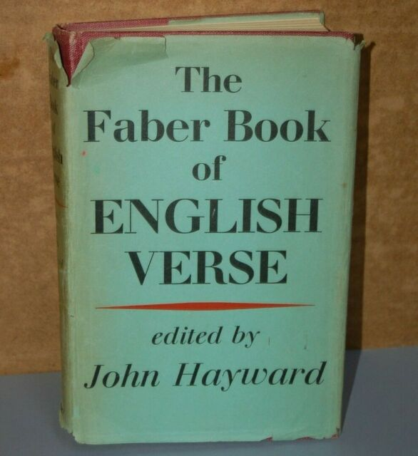 Faber Book of English Verse by Faber & Faber (Hardback, 1958)