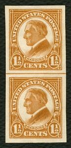 576-1-1-2c-Harding-Horizontal-Line-Pair-Mint-NH-ANY-4-FREE-SHIPPING