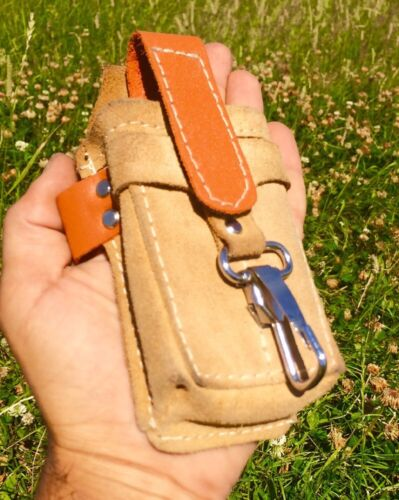 Real Leather Handmade Belt Pouch For Mobile Phone etc...