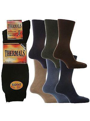 "3 Mens David James® ""big Foot"" Warm Winter Thermal Socks Uk 11-13½ Letzter Stil"
