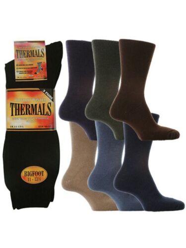 """6 Mens David James® /""""BIG FOOT/"""" Warm Winter Thermal Socks UK 11-13½"""