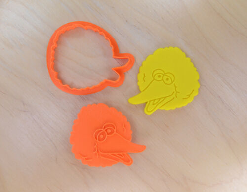 3d printed plastic Big Bird Cookie Cutter and Stamp Set
