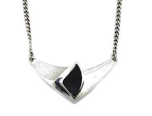 Designer-Collier-925er-Silber-mattiert-und-poliert-mit-Onyx