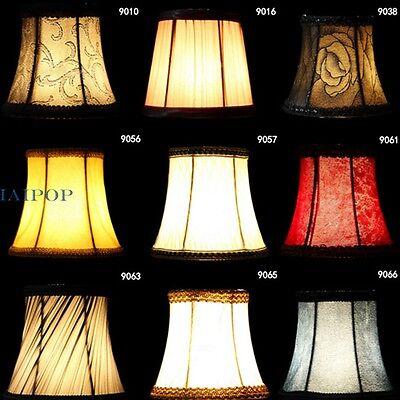 2 Fabric Flower Lampshade Pendant Lamp Light Hanging Pleated Decor Retro Rococo