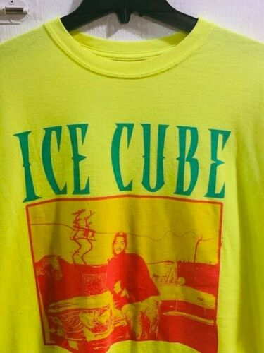 Ice Cube- The Cube Men's Yellow/Green hip hop Tee