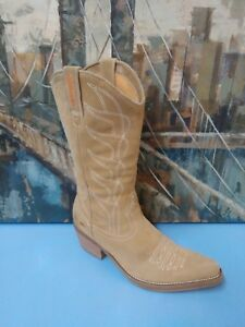 b434b49623e Details about ROCKET DOG 8 Cowboy Cowgirl Boots Brown Tan Suede Western