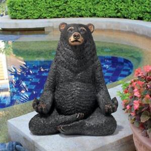 Superieur Image Is Loading Lotus Position Yoga Bear Sculpture Meditation Zen Garden