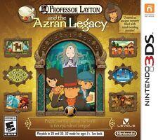 NEW Professor Layton and the Azran Legacy  (Nintendo 3DS, 2014) NTSC