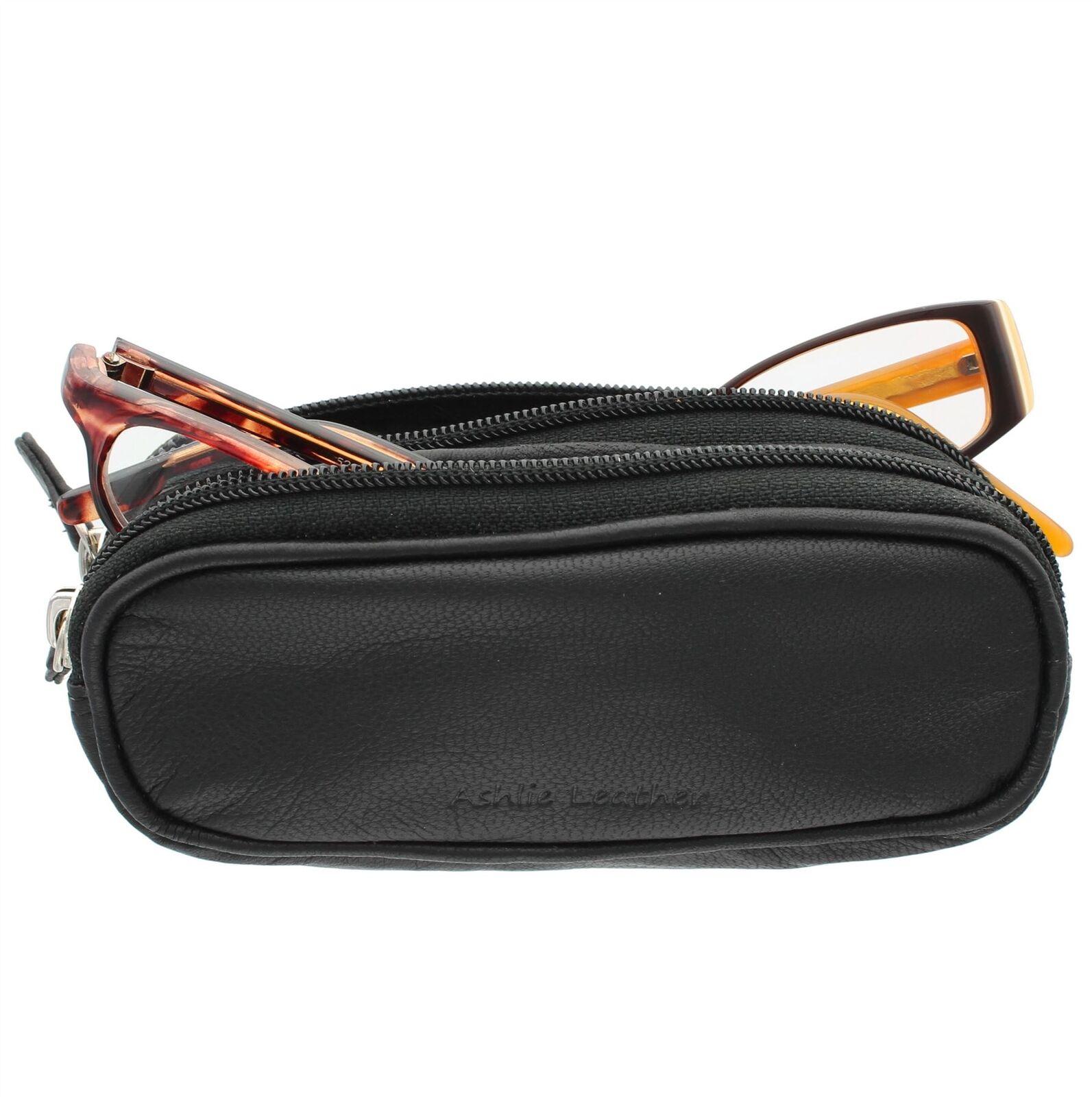 Ashlie Leather Doppio Custodia Per Occhiali Di Pelle 4301/_21 Fucsia