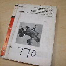 Case 770 Agri King Tractor Parts Manual Book Catalog Spare Wheel Farm List 1973