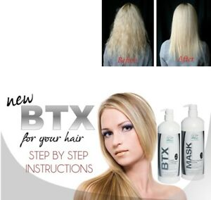 Btx Brazilian Keratin Blowdry Hair Straightening Treatment Kit Formaldehyde Free Ebay
