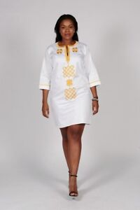 Women-Ladies-African-Dashiki-Embroidered-Sexy-Summer-Dress-Size-UK10-12-14-16-18
